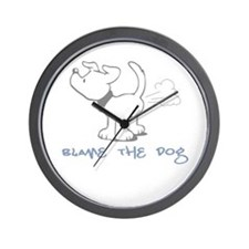 Blame the Dog Wall Clock