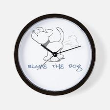 Blame the Dog Wall Clock
