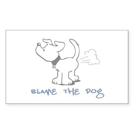 Blame the Dog Rectangle Sticker