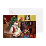 Santa's Havanese Greeting Card