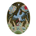Storm Clouds Oval Ornament