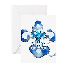 fleur de lis waterbee Greeting Card