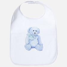 Blue Teddy Bear Bib