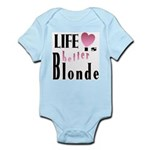 Life Is Better Blonde Infant Creeper