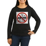 Just Say No Women's Long Sleeve Dark T-Shirt