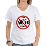 Just Say No Women's V-Neck T-Shirt