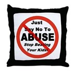Just Say No Throw Pillow
