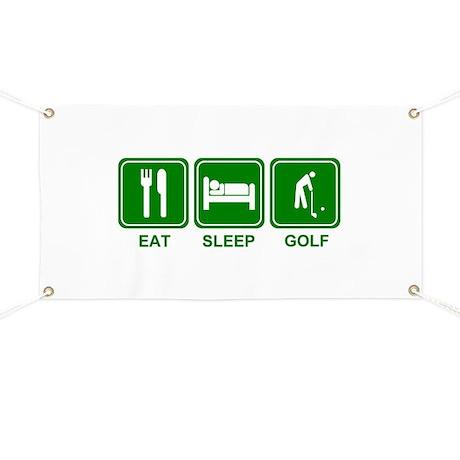 Eat Sleep GOLF Banner