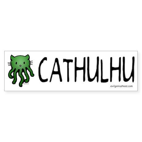 Cathulhu cthulhu cat Bumper Sticker