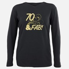 70 And Fabulous (Glitter) T-Shirt