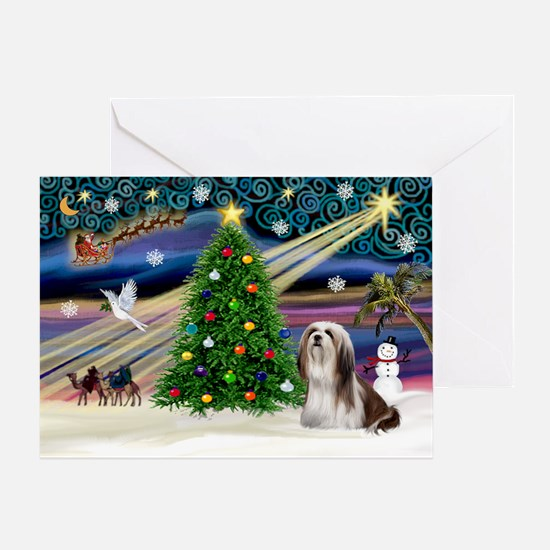 XmasMagic/Lhasa 4 Greeting Card