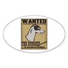 Wanted: Greyhound Oval Decal
