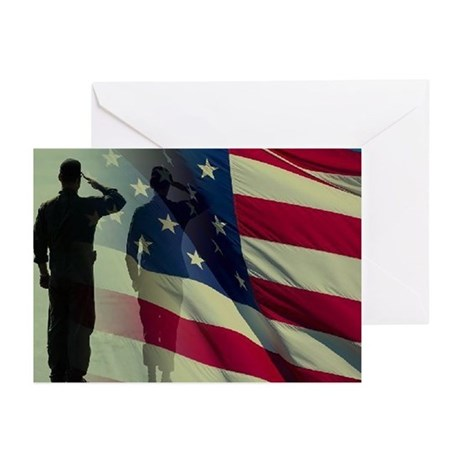 soldier saluting Greeting Cards (Pk of 20)