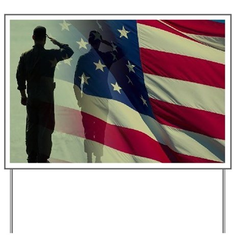 soldier saluting Yard Sign