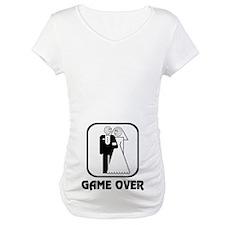 Smiling Bride & Groom Game Over Shirt