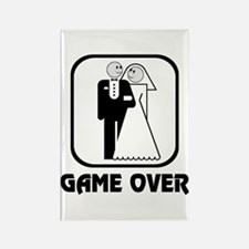 Smiling Bride & Groom Game Over Rectangle Magnet