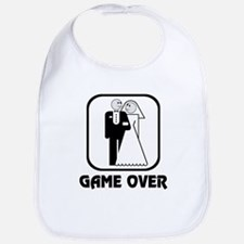 Smiling Bride & Groom Game Over Bib