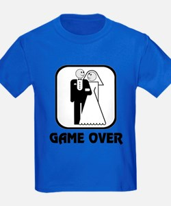 Smiling Bride & Groom Game Over T
