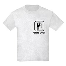 Smiling Bride & Groom Game Over T-Shirt