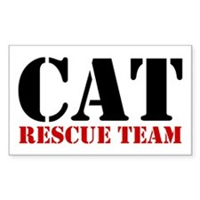 Cat Rescue Team Rectangle Decal