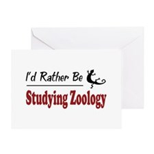 Rather Be Studying Zoology Greeting Card