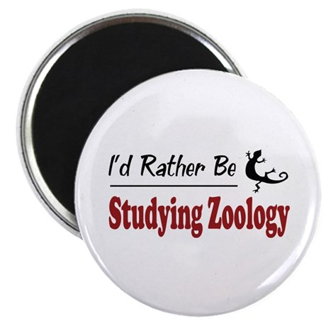 Rather Be Studying Zoology Magnet