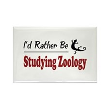 Rather Be Studying Zoology Rectangle Magnet