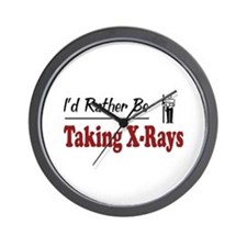Rather Be Taking X-Rays Wall Clock