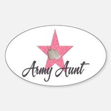 army aunt Oval Decal