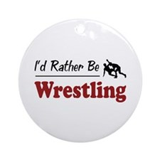 Rather Be Wrestling Ornament (Round)
