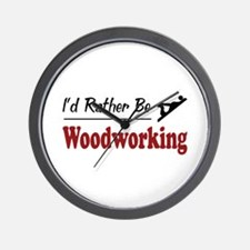 Rather Be Woodworking Wall Clock
