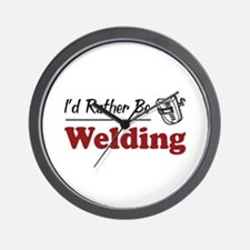 Rather Be Welding Wall Clock