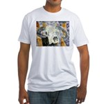 cow skull skulls cowboy weste Fitted T-Shirt