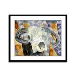cow skull skulls cowboy weste Framed Panel Print