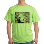 cow skull skulls cowboy weste Green T-Shirt