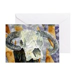 cow skull skulls cowboy weste Greeting Card