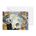 cow skull skulls cowboy weste Greeting Cards (Pk o