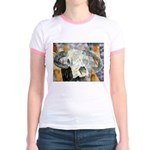 cow skull skulls cowboy weste Jr. Ringer T-Shirt