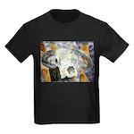 cow skull skulls cowboy weste Kids Dark T-Shirt