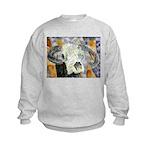 cow skull skulls cowboy weste Kids Sweatshirt
