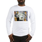 cow skull skulls cowboy weste Long Sleeve T-Shirt