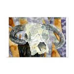 cow skull skulls cowboy weste Mini Poster Print