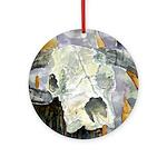 cow skull skulls cowboy weste Ornament (Round)