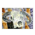 cow skull skulls cowboy weste Postcards (Package o