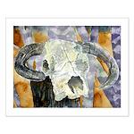 cow skull skulls cowboy weste Small Poster