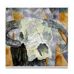 cow skull skulls cowboy weste Tile Coaster
