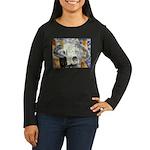 cow skull skulls cowboy weste Women's Long Sleeve