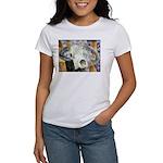 cow skull skulls cowboy weste Women's T-Shirt