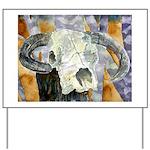 cow skull skulls cowboy weste Yard Sign
