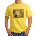 cow skull skulls cowboy weste Yellow T-Shirt
